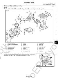 Nissan X-Trail T30 service manual, repair manual, workshop