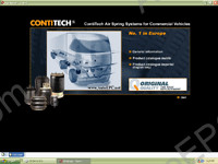 Contitech 2004/2005 electronic spare parts catalogue air spring systems for trucks, buses, commercial vehicles