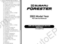 Subaru Forester service manual, repair manual, electrical