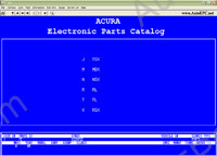Acura electronic spare parts catalogue