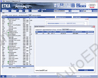 Audi, Vw ETKA 8.0 spare parts and accessories catalog Audi & Volkswagen. All markets. Data version - 1200, price included