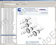 Spare parts catalogue Cummins Hight Horsepower CEPS 3.0 contains the catalogue of spare parts for engines Cummins
