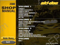 Bombardier Ski Doo 1999-2000 spare parts catalog Bombardier SkiDoo, repair manual, shop manual BRP, maintenance, wiring diagram, specifications