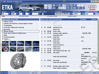 Audi Vw Skoda Seat  ETKA 8.0 spare parts and accessories catalog Audi, Vw, Skoda, Seat. All markets. Data version - 1200, price included
