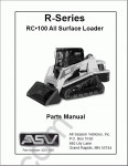 ASV RC-100 Rubber Track Loader spare parts catalog, service manual, maintenance for rubber track loader ASV RC-100