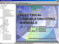 BMW Electrical Troubleshooting Manual 1982-1998 electrical troubleshooting manual, electrical wiring diagrams, pin assignments, component locations, connector views BMW E28, E34, E24, E23, E32, E30, E36, E36/5, E36/7, E31