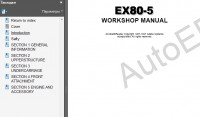Hitachi EX80-5 Excavator Service Manual Workshop Service Manual Hitachi EX80-5 Excavators, Operational Principle, Troubleshooting, Circuit Diagram & Harness Hitachi