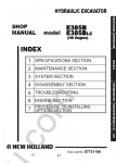 New Holland E385B / E385BLC (HS Engine) Workshop Service Manual workshop service manual for New Holland E385B / E385BLC (HS Engine), electrical wiring diagram, hydraulic diagram, operator's & maintenance manual, parts manual
