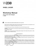New Holland W230 Wheel Loader Workshop Service Manual workshop service manual for New Holland  W230 electrical wiring diagram, hydraulic diagram, operator's & maintenance manual