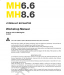 New Holland Wheel Excavators MH6.6 / MH8.6 Workshop Service Manual Workshop Service Manual New Holland Wheel Excavators MH6.6 / MH8.6, Electrical Wiring Diagram, Maintenance