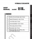 New Holland E215B / E215BLC Workshop Service Manual Workshop Service Manual for New Holland E215B / E215BLC, Electrical Wiring Diagram, Hydraulic Diagram, Maintenance Manual, Parts Manual