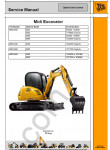 JCB Midi Excavator Service Manual service manual, repair manual Midi Excavator, wiring diagrams, assembly, disassembly, specifications