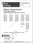 Allison Transmission Parts Catalog 1000 and 2000 product families spare parts catalog