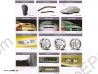 Accessories CD catalogue of original accessories for Hyundai, Kia, Lexus, Toyota, Mitsubishi, Nissan, Renault, Subaru, Suzuki, Hummer H1 and H2